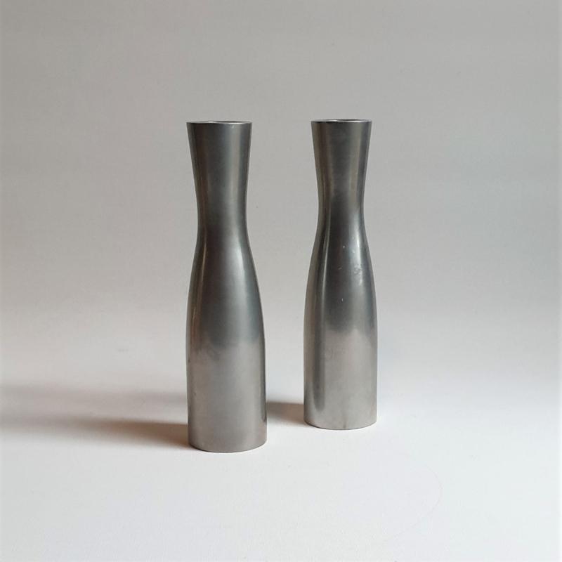 kandelaar set abstract modernism pair of erika pekkari candle holders 1990s
