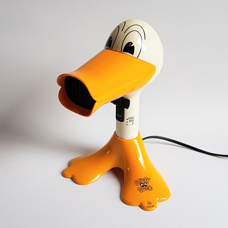 fohn eend hairdryer crazy duck pop art