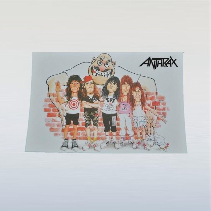 anthrax ansichtkaart ongelopen 1980s GRATIS VERZENDEN