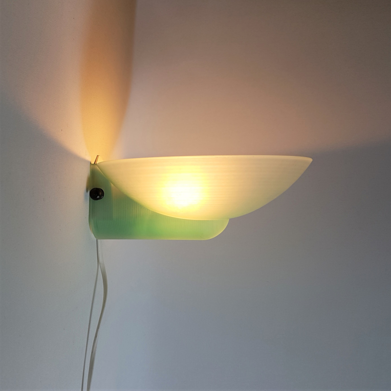 wandlamp glas wall lamp glass AB 1980s