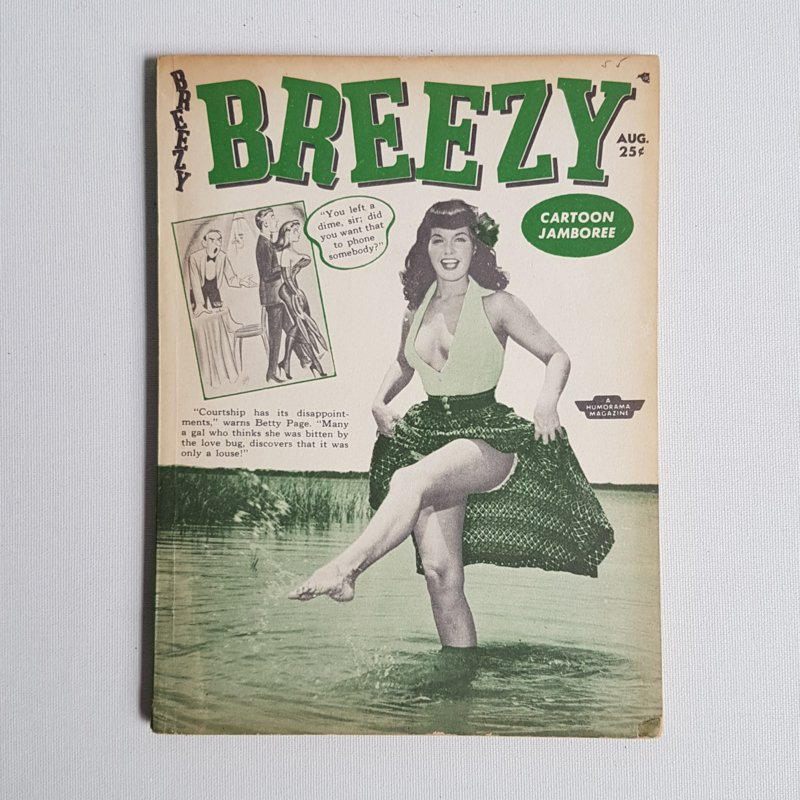 betty page breezy pin-up magazine 1955