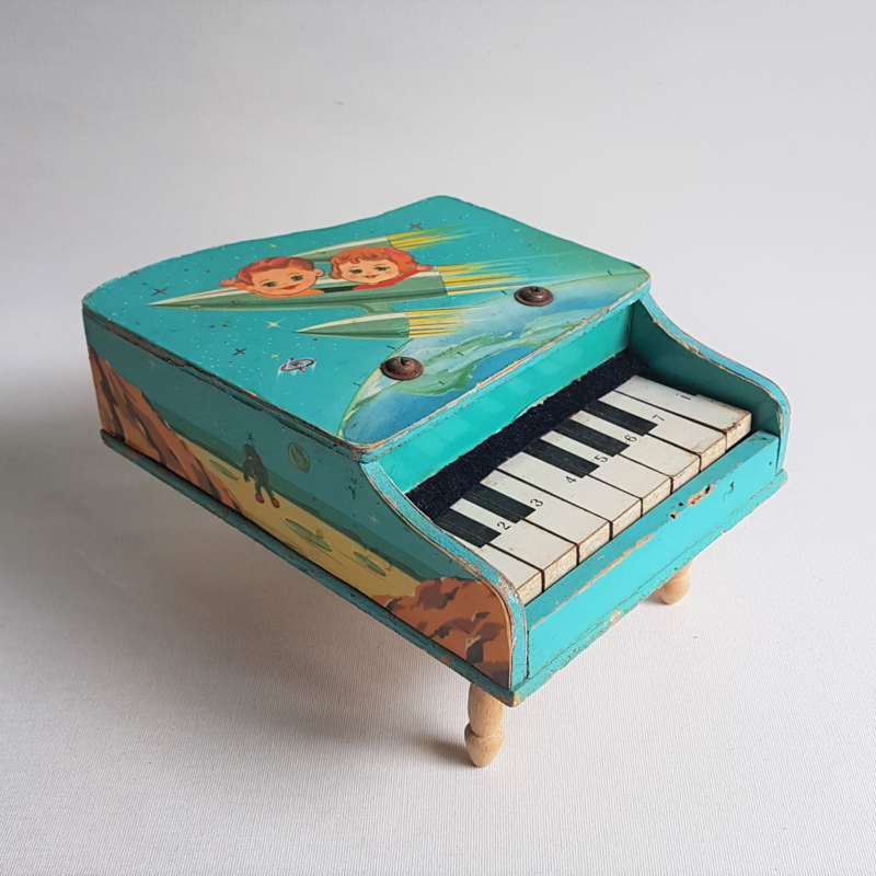 space speelgoed piano 1950s