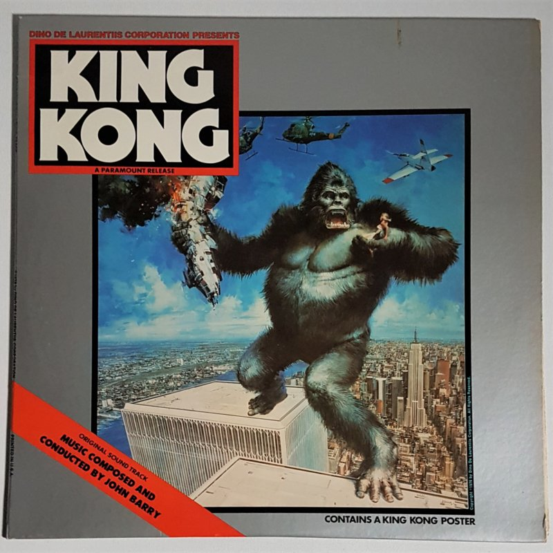 king kong soundtrack LP john barry reprise 1976