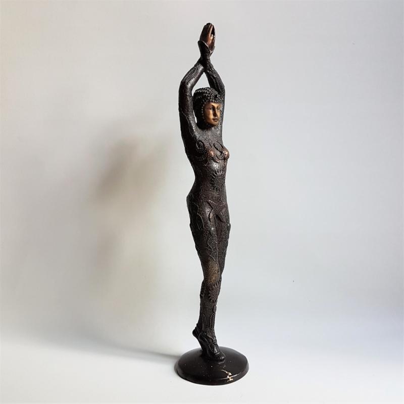 "beeld art deco ""starfish dancer"" bronze  statue demetre chiparus"