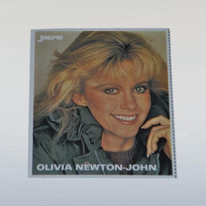 newton-john, olivia sticker joepie 1970s / 1980s GRATIS VERZENDEN
