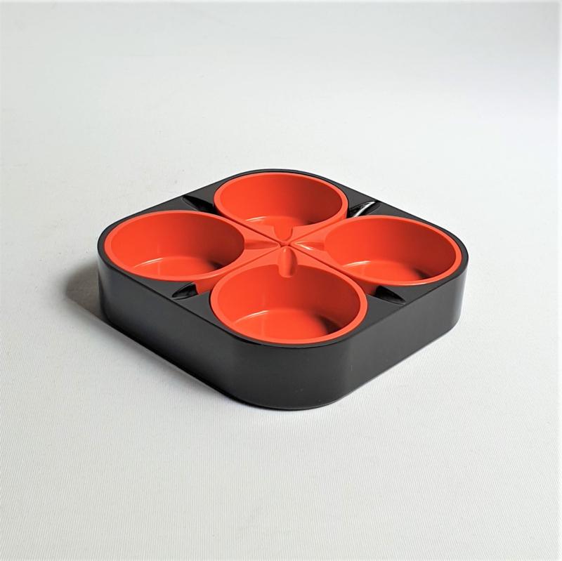 asbak 5x ashtray ipama germany halm space age 1960s