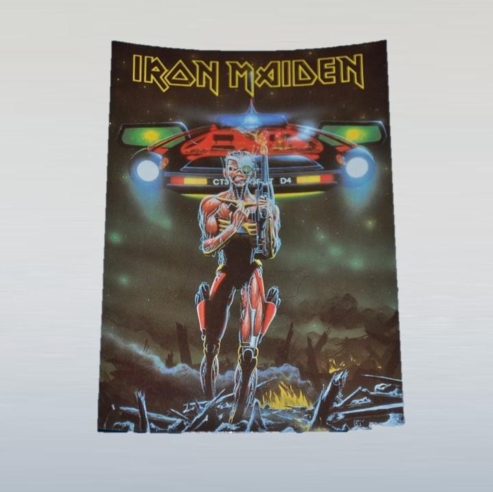 iron maiden ansichtkaart ongelopen 1980s GRATIS VERZENDEN
