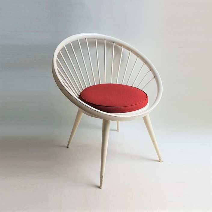 stoel cirkelstoel yngve ekström circle chair 1950s / 1960s