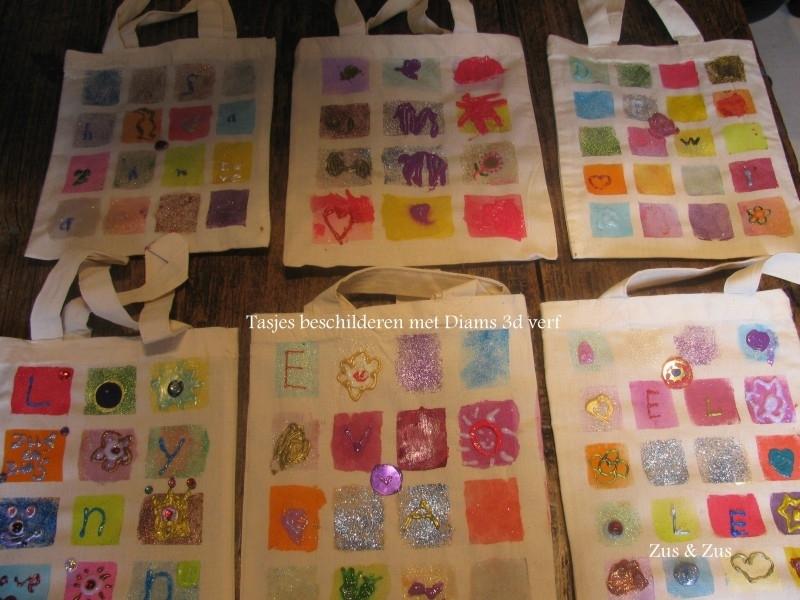 Tasje beschilderen (prijs zie omschrijving)