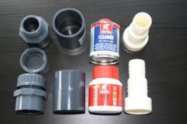 Aansluitset 50mm, 38mm en 32mm (ook voor intex slangen)