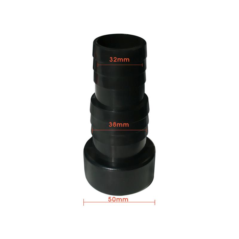 aansluit koppeling 50 mm lijm naar slang 32 mm / 38mm slang