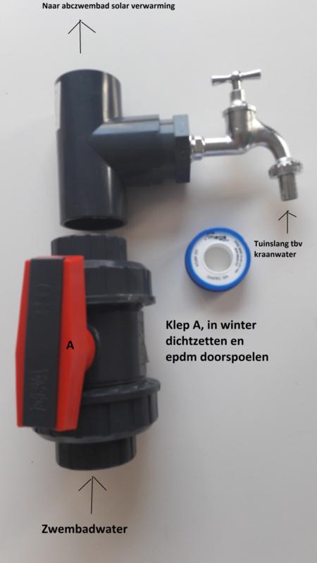 Solar winter spoel systeem set