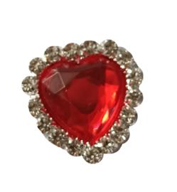hart strass flatback rood