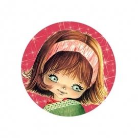 (FB35)  vintage meisje