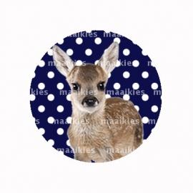 (FB468) hert donker blauw dot