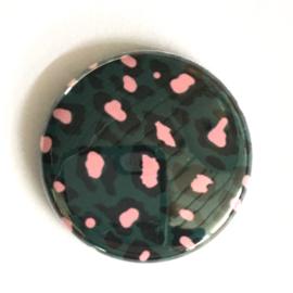 (FB902) leopard groen/ roze