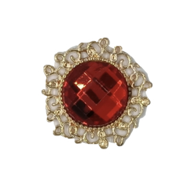 luxe steen goud rood strass