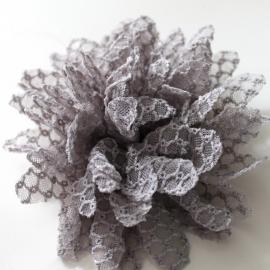 kanten bloem grijs 10cm