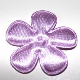 35mm lila bloem satijn