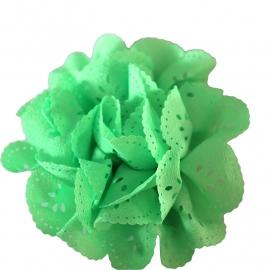 Bloem met gaatjes neon groen (8cm)