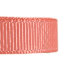 Coral grosgrain lint 6mm breed