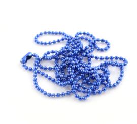 bolletjes ketting met sluiting donkerblauw fijntjes