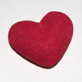 stoffen hart flatback fuchsia