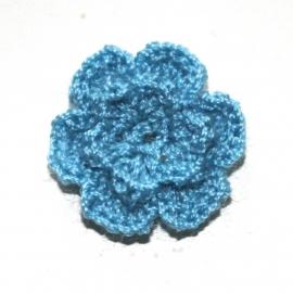 hemel blauwgehaakte bloemen (25mm)