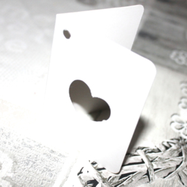 Dubbele Label kaartjes hart
