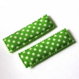 Kniphoesje groen polkadot  1 stuks