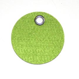 vilten sleutelhanger  rondje ( 36 kleuren)