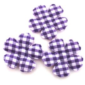 Ruit bloementje paars 10 stuks