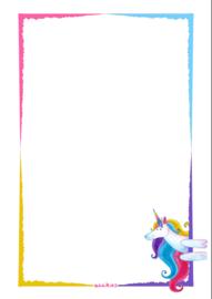 Ansichtkaart thank you unicorn