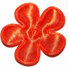 25mm oranje bloem satijn