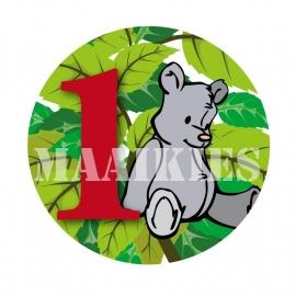 Verjaardags button BEER 1-6 jaar