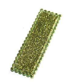 Glitter kniphoesje rechthoek groen