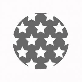 (FB495) sterren grijs