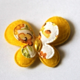 stoffen dubellaagse vlinder geel