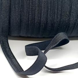 Haarband elastiek (9mm) zwart