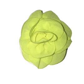 Mooie roos bloem neon geel 6cm