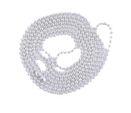 bolletjes ketting met sluiting zilver fijntjes