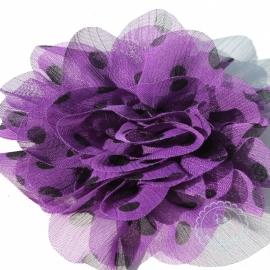 Paarse bloem met zwarte stippen 10cm