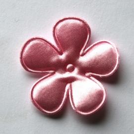 35mm satijn bloem roze
