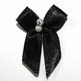 strikje zwart met kraaltjes