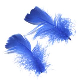 veertjes royal blauw (4tot 7cm) 4 stuks