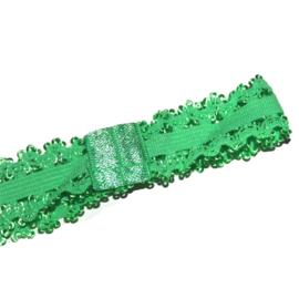 baby haarbandje van elastisch kant groen