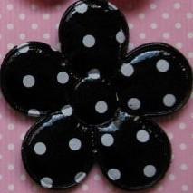Vinyl bloem zwart polkadot