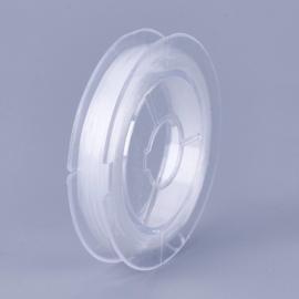 8 meter rijgdraad elastiek 0,8mm transparant