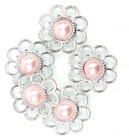 Bloem flatback parel roze