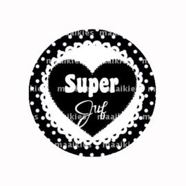 (FB822) SUPER JUF ZWART